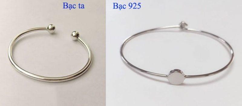 Khách hàng ưu tiên sử dụng bạc 925 vì chúng cực hơn, sáng trắng hơn so với bạc ta hay còn gọi bạc nguyên chất
