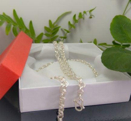 mẫu dây chuyền bạc nam dạng dây xích bằng bạc cao cấp 925