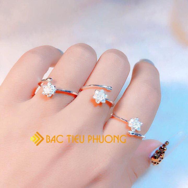nhẫn bạc nữ đẹp 100k