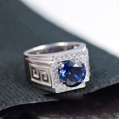 Nhẫn bạc cao cấp cho nam sử dụng chất liệu bạc cao cấp 925 trắng sáng. Đẳng cấp với vẻ ngoài tinh tế cổ điển