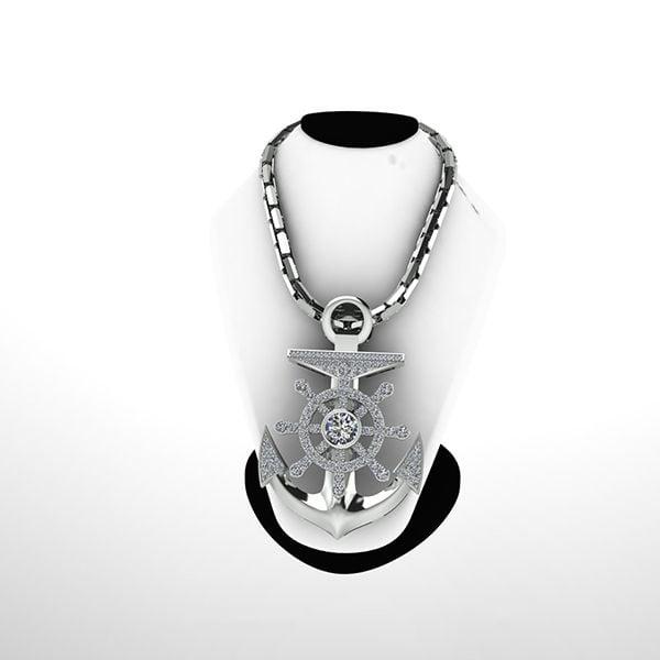 mặt dây bạc cho nam giới hình mỏ neo