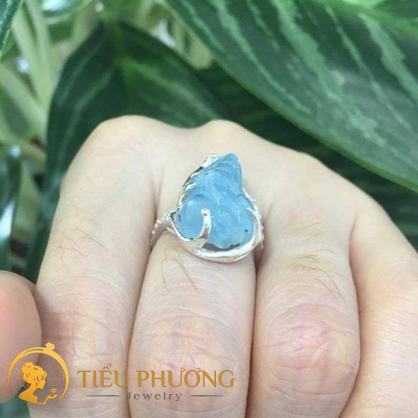 nhẫn tỳ hưu cho người mệnh thủy có đá xanh