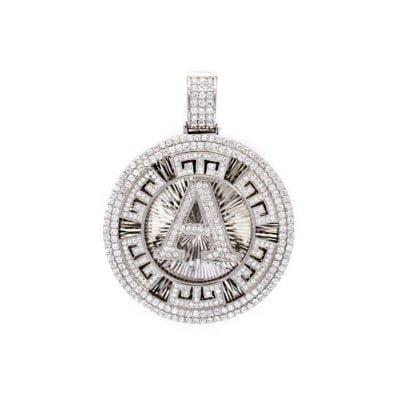 Mặt dây chuyền chữ A bằng bạc cao cấp 925 trắng sáng. Chất liệu bạc không bị đen, rỉ sét và bền màu.