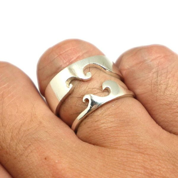 nhẫn đôi bạc 925