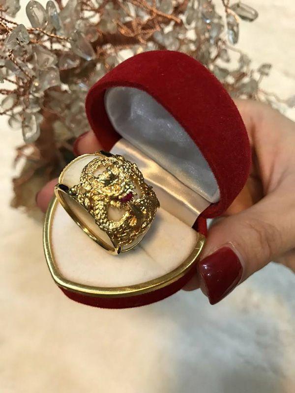 kiểu nhẫn lông voi kết hợp vàng 10k, 14k, 18k