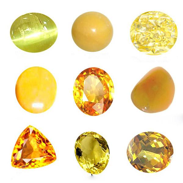 đá quý màu vàng cho mệnh Kim