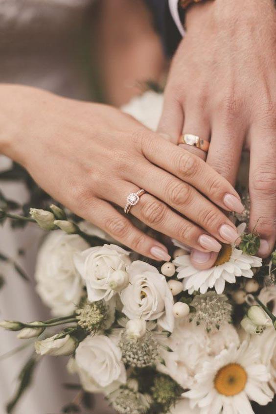 Lựa chọn ngón tay đeo nhẫn phù hợp cho các cặp vợ chồng.